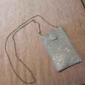 手機包凹造型超閃水鑽大號三星蘋果手機袋女包鍊條斜背包零錢小包袋 交換禮物