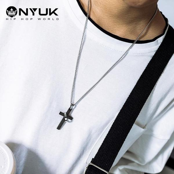 嘻哈圣經戒指十字架項鏈鈦鋼鏈子嘻哈飾品【雲木雜貨】