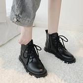 低幫馬丁靴女英倫風網紅厚底增高瘦瘦靴ins潮2020秋季新款機車靴