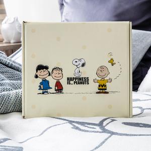 HOLA 史努比 Snoopy 系列 簡約緹花毯禮盒組