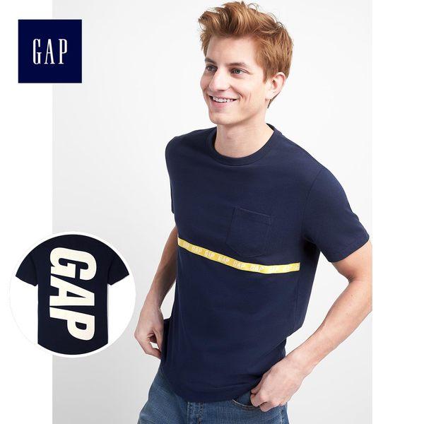 Gap男裝 Logo系列時尚舒適短袖T恤 227135-海軍藍