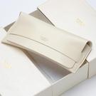 眼鏡盒 收納盒韓國小清新復古優雅女太陽鏡墨鏡皮夾學生男創意簡約眼鏡盒子