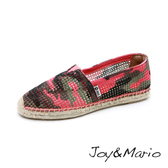 【Joy&Mario】迷彩鏤空草編鞋 - 01096W PEACH