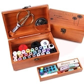 針線盒套裝家用大號多功能實木整理箱手工手縫線結實大針線包收納