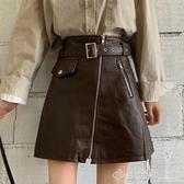 2020夏季新款韓版ins超火的半身裙高腰顯瘦皮裙A字短裙包臀裙子女 西城