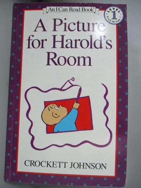 【書寶二手書T2/少年童書_JHX】Picture for Harold's Room_Johnson, Crockett