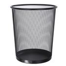 9L圓形金屬網狀紙簍垃圾桶 收納筒 無蓋家用辦公收納桶 廢紙簍【SV6745】BO雜貨