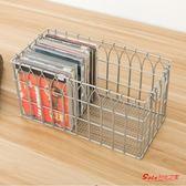 CD收納盒 復古風格鐵絲提手CD收納盒金屬鐵絲桌面家居收納整理 1色