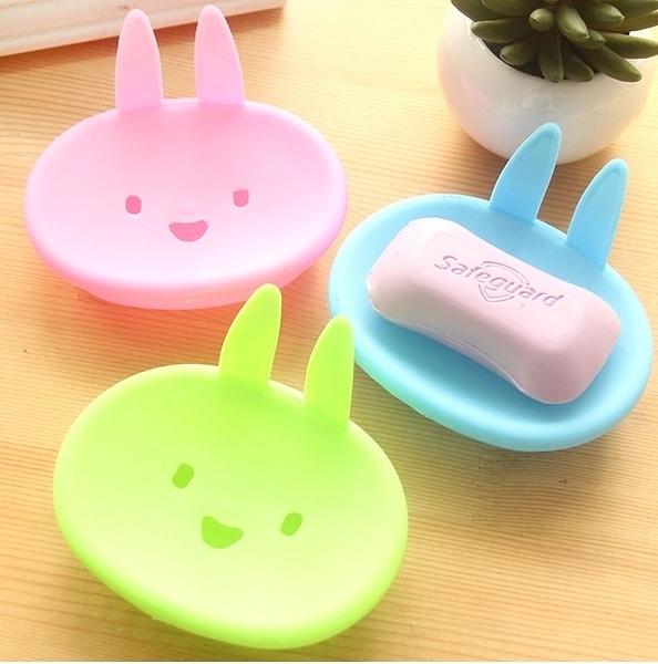 通MOMO兔香皂盒 創意雙層 家居肥皂盒 新款可愛肥皂盒雜物放置小盒【L038】MY COLOR