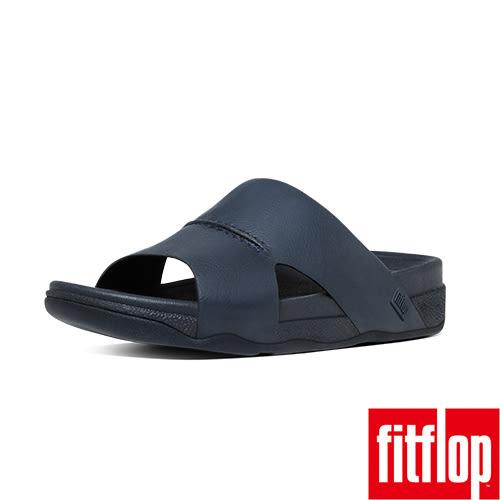 FitFlop TM _BANDO TM LEATHER SLIDE-海軍藍