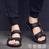 涼鞋夏季涼鞋男潮男士學生運動涼鞋透氣夏天軟底沙灘鞋男外穿越南涼拖 可然精品