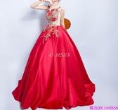 (45 Design)  客製化顏色尺寸領新娘長款婚紗晚宴年會演出主持人禮服9