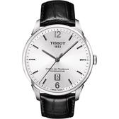 TISSOT 天梭 杜魯爾系列80小時動力機械手錶-銀/42mm T0994071603700