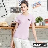 【JEEP】女裝極簡短袖T恤-天光紫