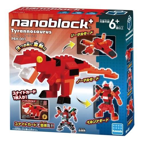 【日本KAWADA河田】Nanoblock迷你積木-暴龍 PBH-001