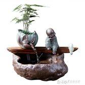 創意中式流水擺件噴泉風水招財客廳辦公室加濕器家居軟裝開業禮品igo 溫暖享家