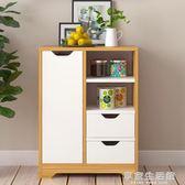 廚房櫥櫃置物架 廚房櫃子帶門簡約餐邊櫥櫃多功能組裝碗櫃儲物櫃-享家生活館 IGO