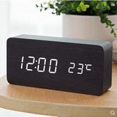 河創18新款LED數碼信息萬年歷客廳電子鬧鐘臥室家用掛鐘HEC03