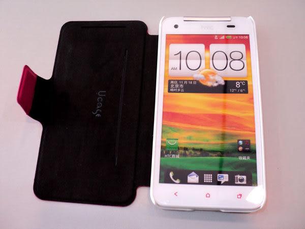 好買家§ U case §新 HTC ONE/NEW ONE/M7 超薄 手機 皮套/側掀/側翻/背蓋/雙色保護套/支架/觀賞架