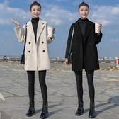 女大衣 毛呢外套女中長款小個子秋冬季妮子韓版加厚流行呢子大衣【快速出貨】