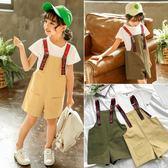 休閒裝 女童T恤背帶褲套裝夏季新款韓版時髦中小童兩件套5寶寶衣服潮 寶貝計畫