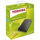 TOSHIBA 東芝 Canvio Basics 經典款 2.5吋 2TB 行動硬碟 黑色