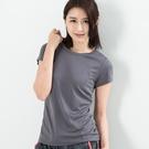 女款排汗T  CoolMax 吸濕快乾 機能涼感 舒適運動 灰色