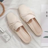 降價兩天 新款網紅包頭半拖鞋女一腳蹬懶人拖鞋女平底外穿時尚百搭鞋子