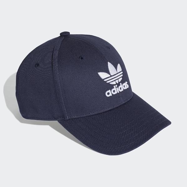 L- adidas 老帽 Trefoil Baseball Cap 深藍 白 三葉草 棒球帽 男女 DV0174