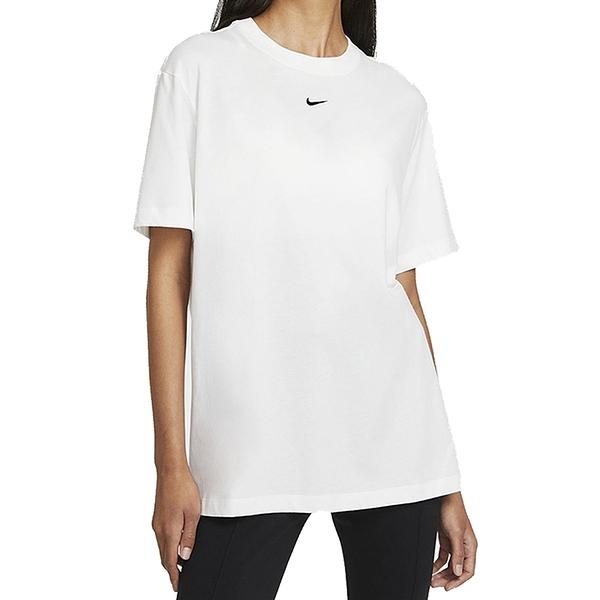NIKE NSW ESSNTL SS TOP BF 白 女 圓領 刺繡 LOGO 短袖 T恤 DH4256100