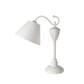 古典鐵藝檯燈-白