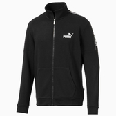 PUMA Amplified 男裝 外套 休閒 基本款 字樣貼條 袋鼠口袋 黑【運動世界】58043501