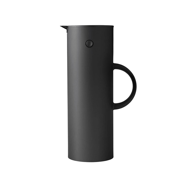 丹麥 Stelton EM77 Vacuum Jug 1.0L Soft Black 丹麥經典 啄木鳥系列 真空保溫壺 - 限量特別款 紳士黑