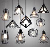 創意個性簡約loft工業風鐵藝吊燈zr1640『愛尚生活館』