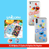 -好友-紅點藍點芝麻街角色 透明全包軟殼 保護殼 iphone X 8 8plus 7 7plus 6s 6splus 6 6plus Unicorn手機殼