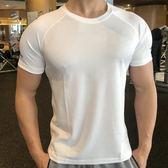 全館83折健身緊身衣男夏季籃球跑步訓練速干衣彈力吸汗透氣運動T恤健身服