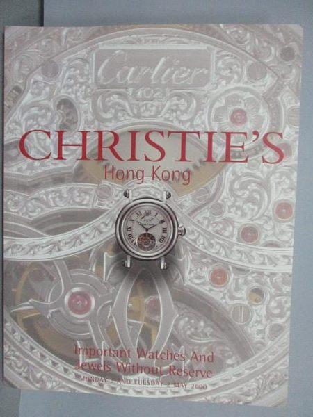 【書寶二手書T2/收藏_PCT】Christie s_Important Watches and…2000/5/2