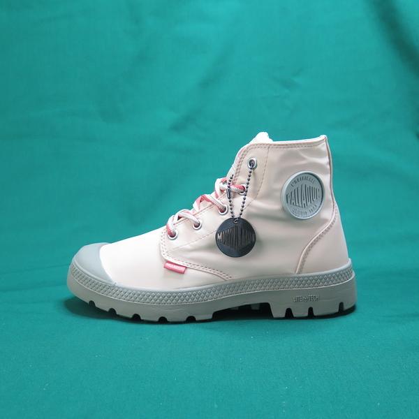 Palladium 高統靴 公司正品 76117610 櫻花色 女款男碼 附純淺粉色鞋帶可替換使用【iSport愛運動】