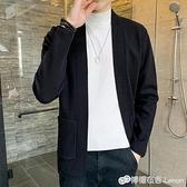 秋季新款男士針織衫韓版潮流個性帥氣外穿休閒開衫毛衣外套潮 雙十二全館免運