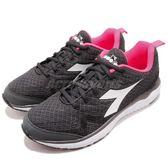 DIADORA 慢跑鞋 Flamingo W 黑 粉紅 旗艦輕跑鞋 透氣網布 吸震 EVA中底 運動鞋 女鞋【PUMP306】 DA172868C0641