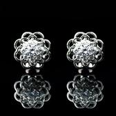 耳環 925純銀 鑲鑽-耀眼奢華生日聖誕節交換禮物女飾品2色73hz28【時尚巴黎】