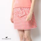 腰間裝飾綁帶造型細格紋短裙 Scottish House【AA2164】