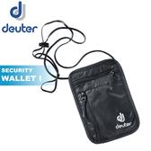 【Deuter 德國 Security Wallet I 加大隱藏式護照証件錢包《黑》】3942016/防盜/側背包/貼身包
