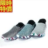 編織鞋-超輕透氣戶外流行懶人手工男休閒鞋3色69t29[時尚巴黎]