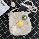 DIY材料包束口包手工編織包包制作鉤針粗毛線針織包【時尚大衣櫥】