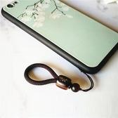定制中國風珠手機掛繩掛墜短款手機殼指環扣掛件男女u盤吊飾繩子