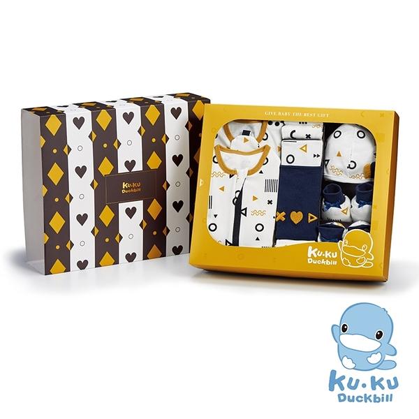 KUKU 酷咕鴨 純真之瞳包巾豪華禮盒-16件組【佳兒園婦幼館】