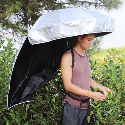 遮陽傘 釣魚傘采茶傘可背式超輕頭帽傘戶外防曬創意晴雨傘戶外必備 - 小宅君嚴選