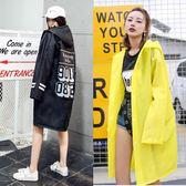 全館83折 下雨天穿的衣服風衣式大人防雨衣成人塑料透明女韓版網紅時尚外套