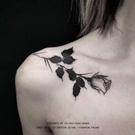 紋身貼玫瑰 鎖骨 暗黑 紋身貼 玩趣3C